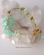 Aquamarine, White Freshwater Potato Pearl, & Gold Vermeil Bracelet | Schaef Designs online Jewelry Gallery | New Mexico