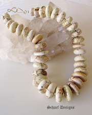 Schaef Designs White Buffalo Turquoise layering necklace | great for Rocki Gorman Pendants |Schaef Designs Jewelry | New Mexico