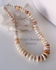 Schaef Designs white buffalo turquoise & sterling silver single strand Southwestern necklace for Schaef Designs, Rocki Gorman, Gary G, and Dan Dodson pendants| Native American Jewelry | upscale online Native American Southwestern Equine Jewelry gallery boutique | Schaef Designs artisan hand-crafted jewelry | New Mexico