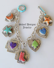 Schaef Designs Jewelry Southwestern Totem Charm Bracelet | Vintage Revival Collection | online upscale Southwestern Native American jewelry gallery boutique | Schaef Designs Southwestern Equine Jewelry |New Mexico