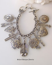 Rocki Gorman Sterling Silver Charm Bracelet | Vintage Collection | Schaef Designs Southwestern Equine Equestrian Jewelry | New Mexico