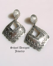 Schaef Designs oxidized sterling silver navajo pearls large loop earrings | Vintage Collection  | online upscale native american & southwestern jewelry boutique gallery| Schaef Designs Southwestern turquoise Jewelry | New Mexico