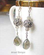 Labradorite & Sterling Silver Dangle Earrings