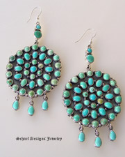 Carico Lake Multi Turquoise Circle Dangle Earrings | Schaef Designs Southwestern Turquoise Jewelry | New Mexico