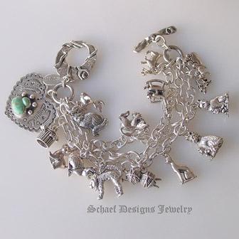Sterling Silver Fancy Cat Charm