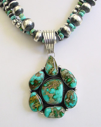 Natural gem grade pilot mountain turquoise sterling for Southwestern silver turquoise jewelry